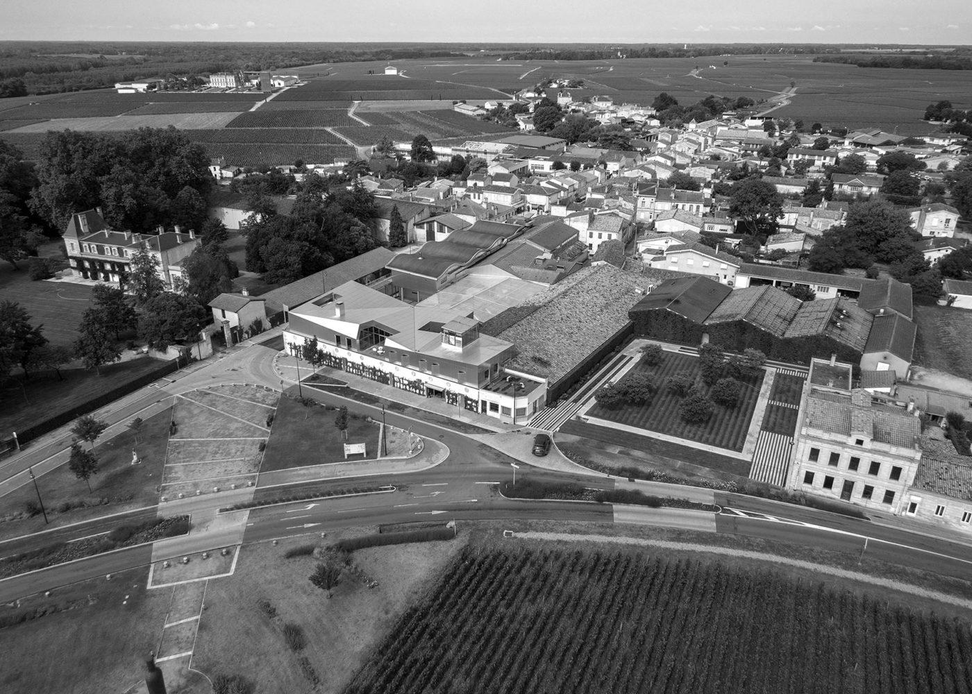 Vue du ciel Domaines Martin Saint-Julien